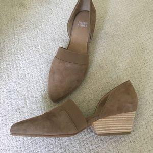 Eileen Fisher Hilly Suede d'Orsay Block Heel Pumps